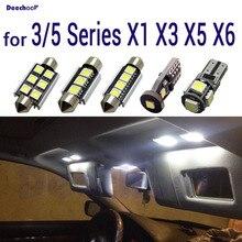 Canbus светодиодный фонарь освещения номерного знака+ укрыты внутренной сводной светильник лампочка для BMW E36 E46 E90 E91 E92 E93 E39 E60 E61 F10 E84 E83 F25 E53 E70 E71