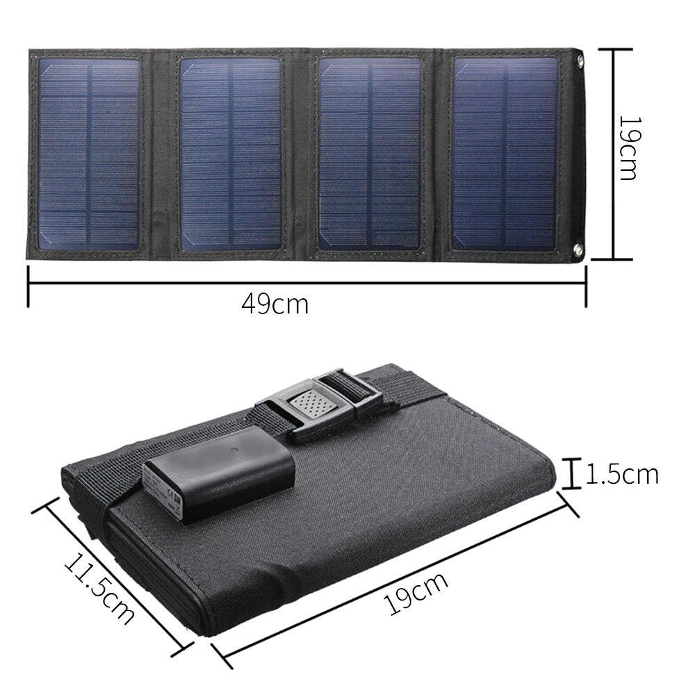 dobrável sunpower carregador solar portátil carregadores de