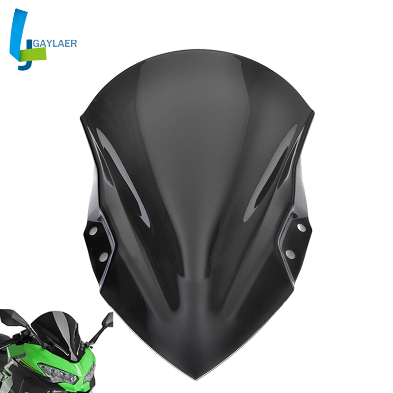 Motorcycle Street Bike Windshield <font><b>Windscreen</b></font> for Kawasaki <font><b>Ninja</b></font> <font><b>400</b></font> 2018-2019 High Quality 100% Brand New image