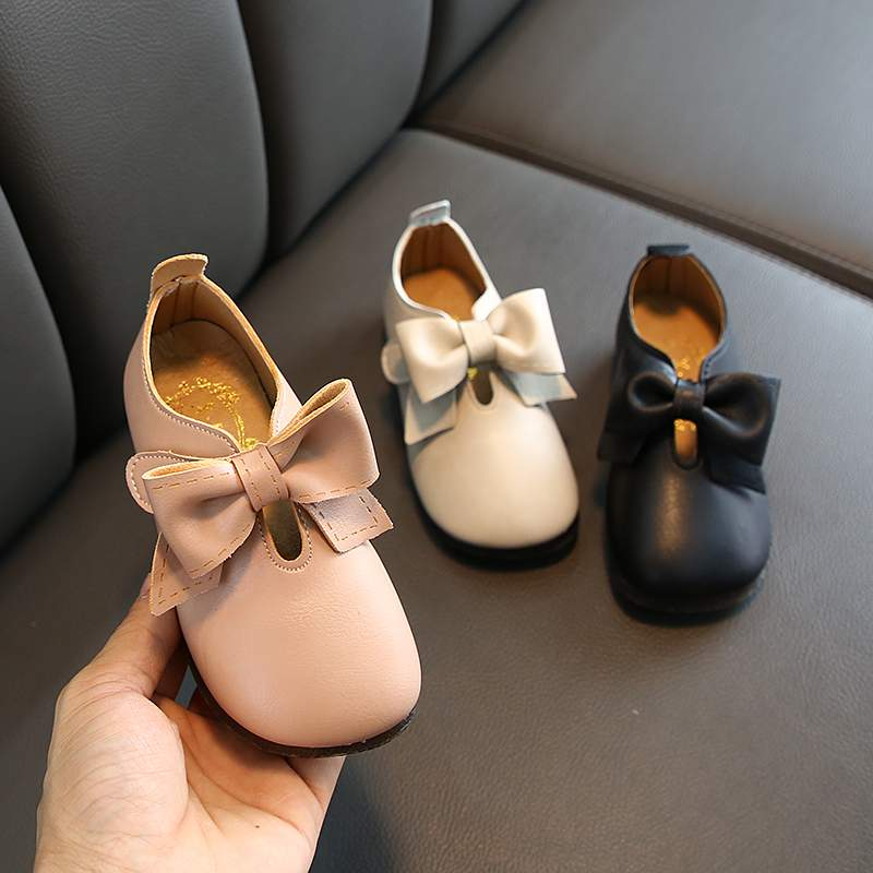 New Childrens Girls Shoes Leather Shoes Kids Girls Princess Shoes Girls Dress Shoes Spring Big Bow Sandals Hot