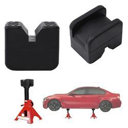 Universal Automotive Jack Blok Karet Mobil Truk Karet Slotted Pad Lifting Jack Blok Penopang Guard Adaptor Chassis Perlindungan