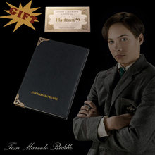 NOVO Diário de Tom Riddle e 9 3/4 Bilhete de Assistente de Estudantes Crianças XMAS GIFT Aniversário Гарри Поттер Coleção