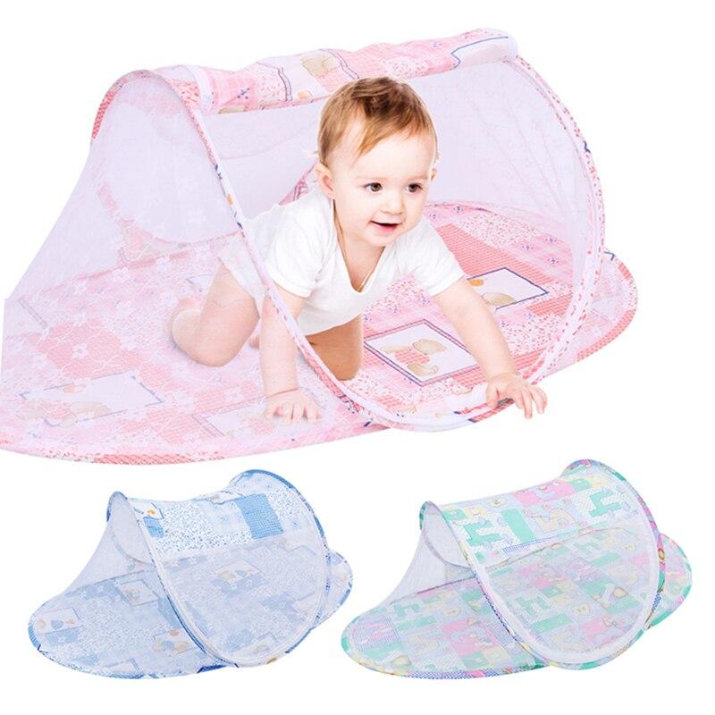 1Pcs Baby Mosquito Netting Crib Outdoor Foldable Mosquito Net Bed Cute Cartoon Children Ligheweight Crib Multifunction