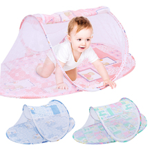 1Pcs Baby Mosquito Netting Crib Outdoor Foldable Mosquito Net Bedding Cover Cute Cartoon Children Multifunction Lightweight Crib