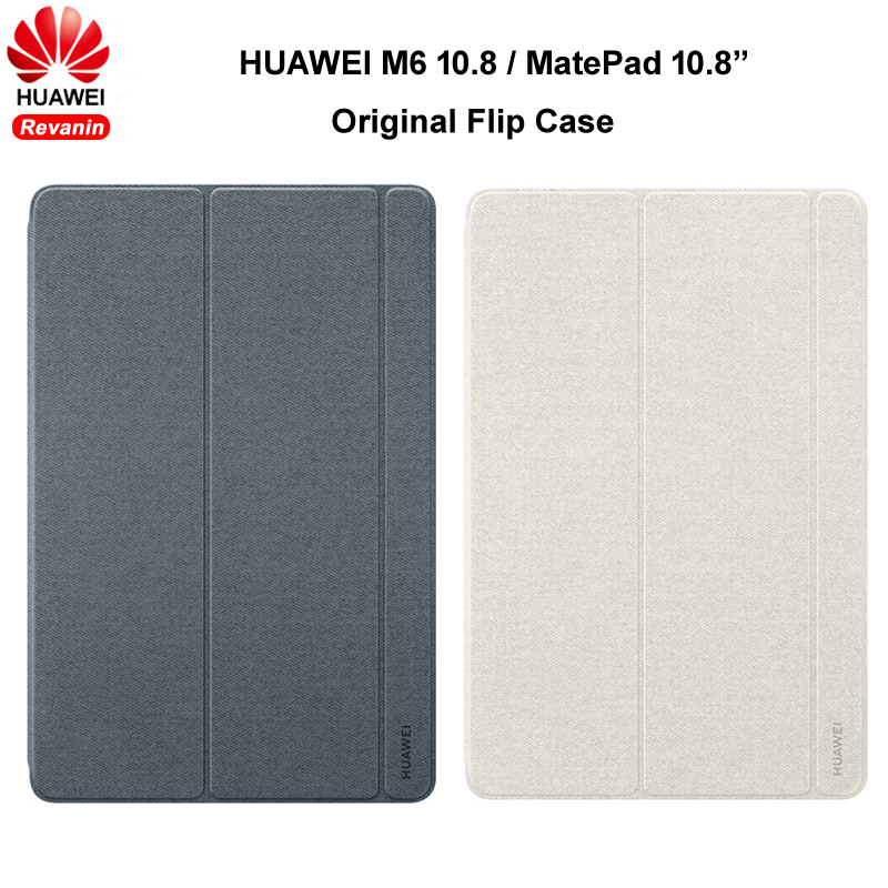 Оригинальный чехол для планшета HUAWEI MediaPad M6 10,8 дюйма MatePad 10,8 дюйма, кожаный флип-чехол с магнитной подставкой, умный чехол с функцией сна и про...