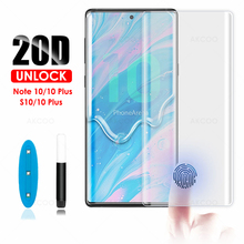 20D Akcoo Note 10 Plus Screen Protector UV Glass for Samsung Galaxy S78 9 5G 8 Full Glue tempered glass