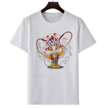 Women's new T shirt cute cartoon Chinese style drama print T shirt fashion casual T shirt summer white short sleeve T shirt top