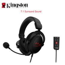 Kingston headset surround hyperx com fio, fone de ouvido com nuvem + 7.1 plus, hifi, som surround, cancelamento de ruído, controle de microfone