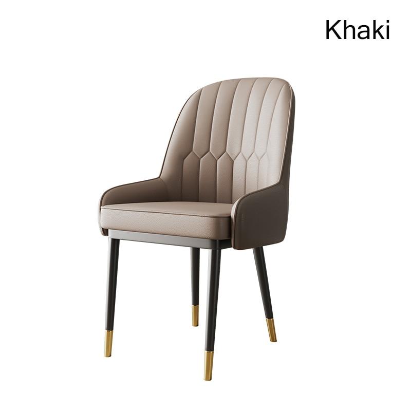 Скандинавский Инс металлический пластиковый стул ресторанный стул ресторан офисное собрание компьютерное кресло семейная спальня обучающее кресло - Цвет: Khaki