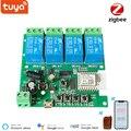 Smart Zigbee Switch 4 Channel Module With RF433 Zigbee Switch 5-32V DIY Work with Alexa Smartthing ewelink APP Remote Control