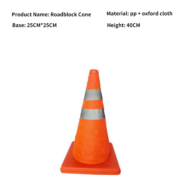Купить с кэшбэком Reflective Cone 40Cm Warning Reflective Cone Traffic Movement Retractable Collapsible Convenient Storage