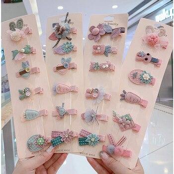 Newest 6pcs/set Kids fully warpped flower Hairpins girls animal hair clips children kids Accessories headdress