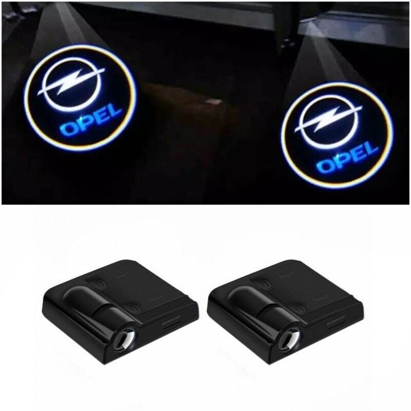 2X LED Car Door Welcome Light Logo Projector Lamp For Opel Astra J G Corsa D Insignia Hyundai I30 Ix35 Tucson Ioniq I20 I40 I10