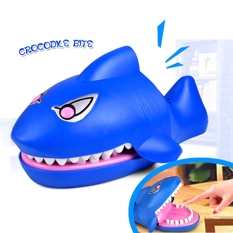 15X10CM Creative Shark Mouth Dentist Bite Finger Game Funny Gags Toy For Kids Stress Relief Toys Party Toys