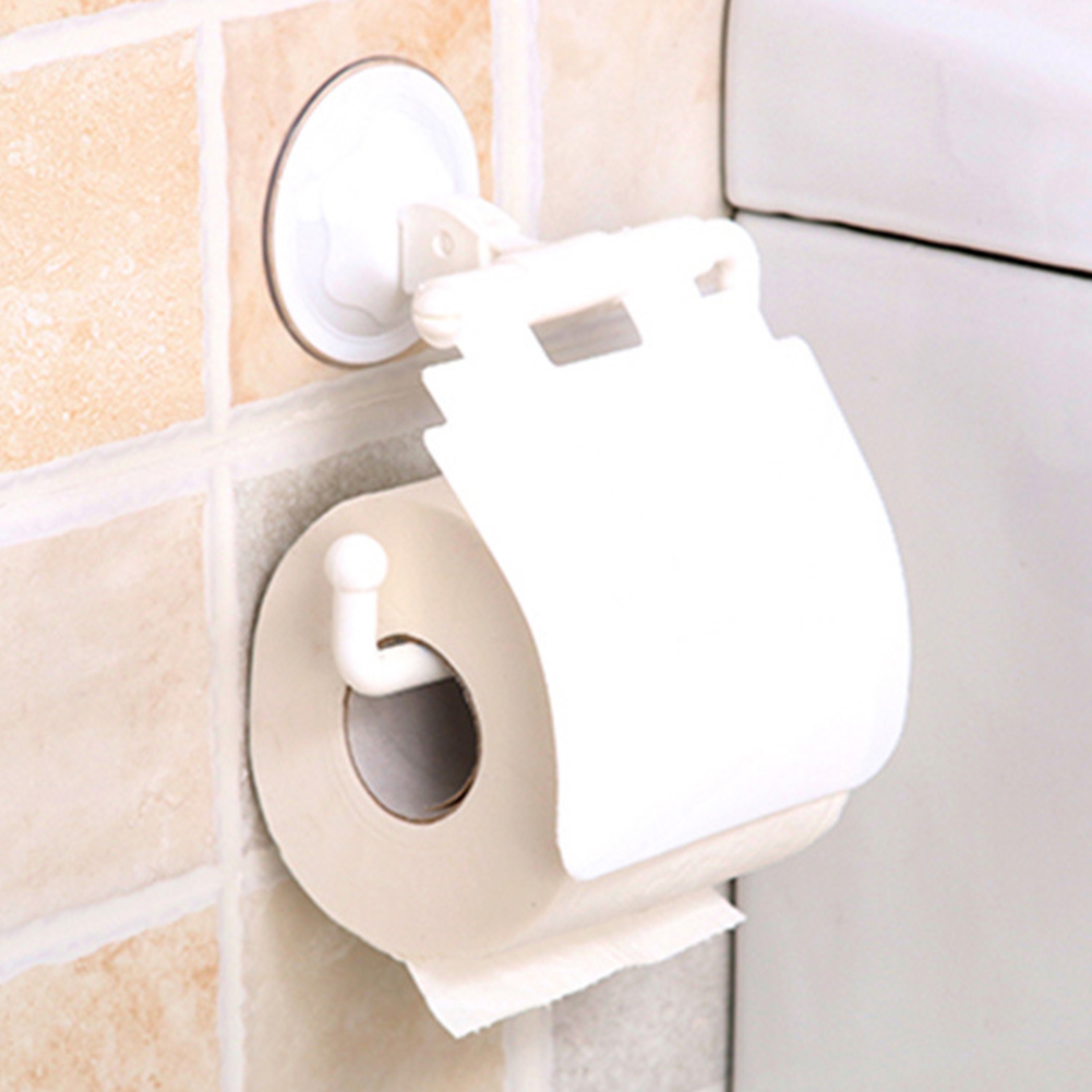 Bathroom Supplies Dustproof Tissue Holder Roll Stand Non-Slip Decorative Strong Suction Portable Wall Mounted No Drilling