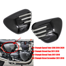 Motorcycle Left Right Side Battery Cover For Triumph Streed Cup Twin Scrambler 2017 2018 2019 Speed Twin 1200 2019-2020