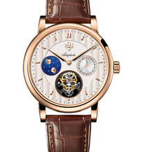 Aidophedo Real Seagull st8007 Tourbillon Men Watch Moon Phase Calendar Switzerland Mens Mechanical Watches 5ATM Top Luxury Brand new binkada men mechanical watches big size leather watches luxury brand man watch moon phase calendar wristwatches