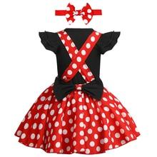 Dziewczyna dziecko ubrania urodzinowe ciasto Smash strój Polka Dot strój śliczne Minnie przebranie zestaw ubrań dla dziewczynek zdjęcie rekwizytu