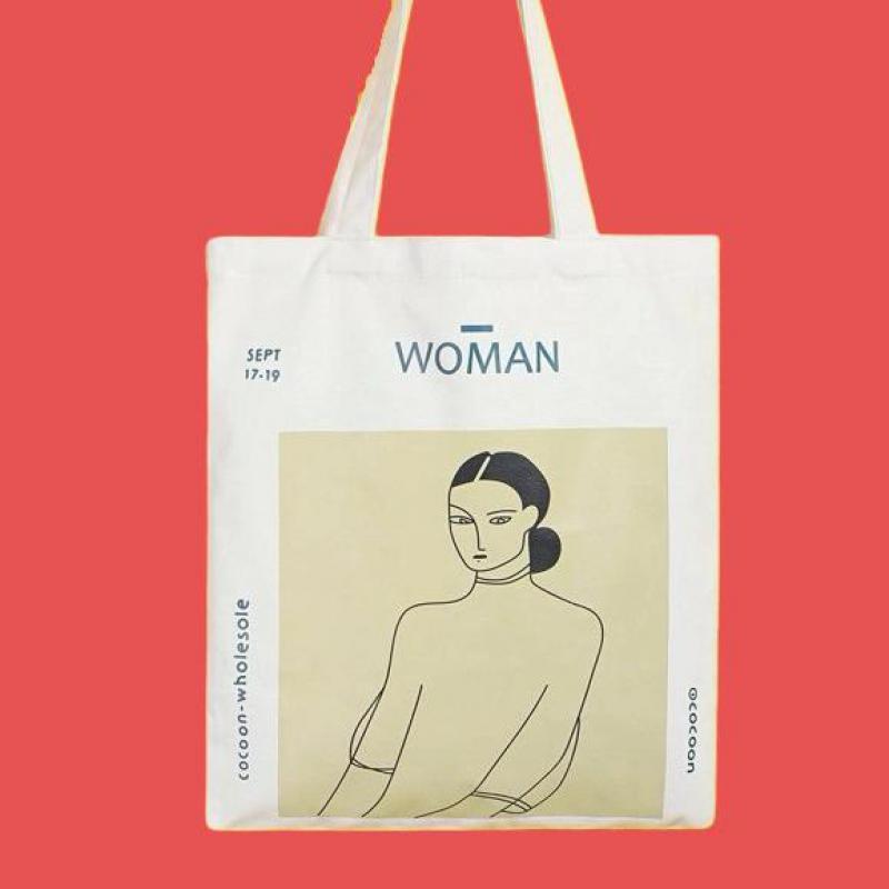 Купить простая экологически чистая универсальная женская холщовая сумка
