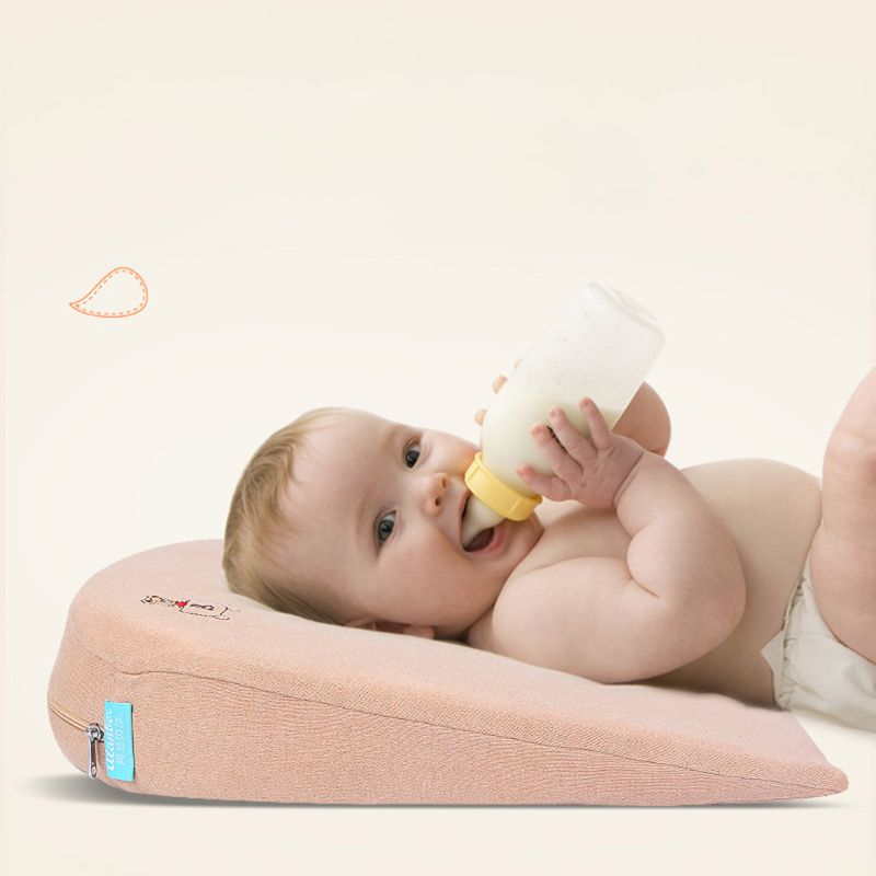 1 Pc Baby Wedge Pillow Made of Memory Foam with 10 degrees Tilt and the Thin Bottom 4