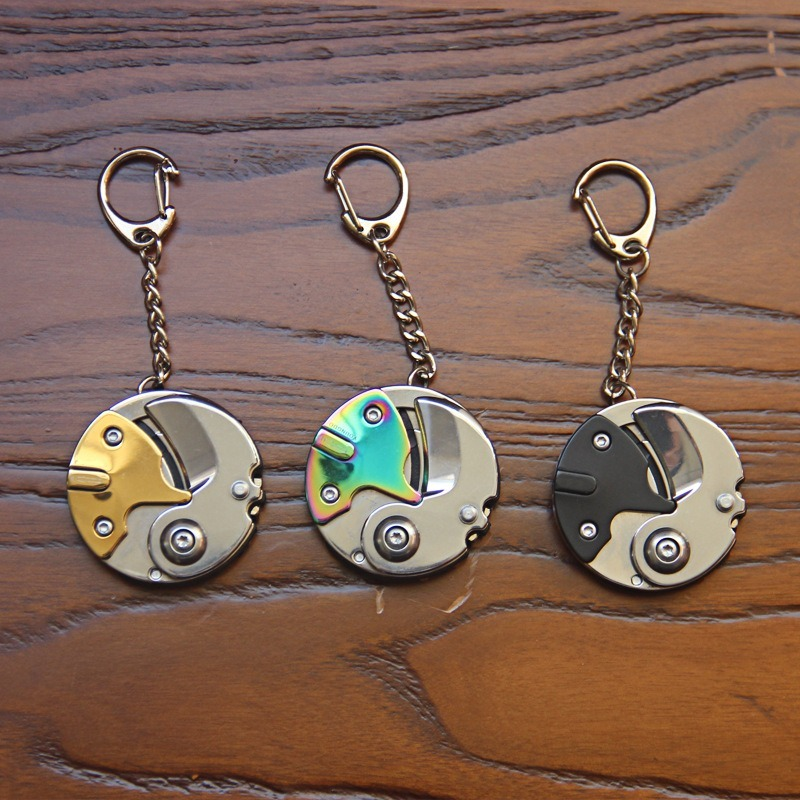 Keychain Creative Folding Coin Mini Screwdriver Bit Portable EDC Multi-function Folding Knife Tool Set Precision Screw Driver