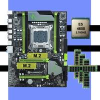 Computador DIY HUANANZHI X79 Pro motherboard pacote motherboard com dual slot de CPU Intel Xeon M.2 E5 4650 RAM 32G (4*8G) REG ECC