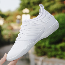 White Aerobic Shoes Woman Soft Leather Women Aerobic Dancing Sneakers Lace Up Girl Training Sports Jazz Wimen Breathable Sneaker