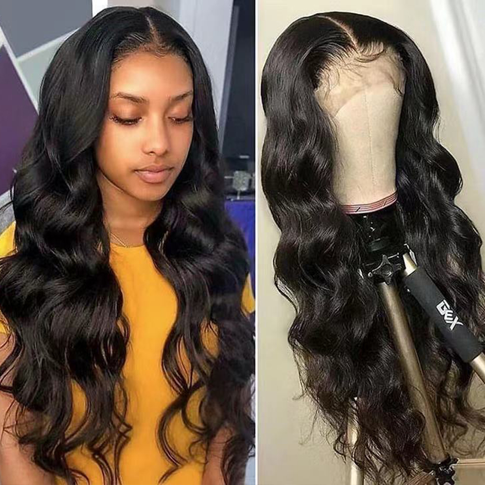 Body Wave Lace Front Wig 13x4 Remy Wig 150 Density Lace Front Wig PrePlucked Lace Front Human Hair Wigs For Black Women