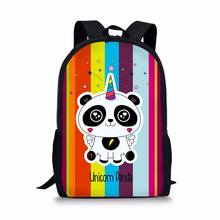 лучшая цена HaoYun Children's Backpack Panda Colorful Unicorn Pattern Students School Bags Teenagers Book-Bag Mochila Women's Travel Bag