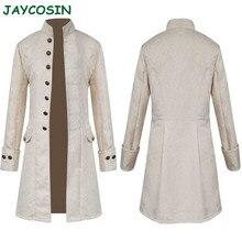 Chaqueta JAYCOSIN para hombre, chaquetas largas de invierno abrigadas con botones, abrigos Vintage de moda 2019, abrigo sólido de manga larga, prendas de vestir, abrigo para hombre 1025
