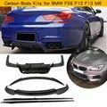 Carbon Fiber Body Kits For BMW M6 F06 F12 F13 M6 2013 - 2018 Front Bumper Lip Rear Bumper Diffuser Rear Trunk Spoiler Side Skirt