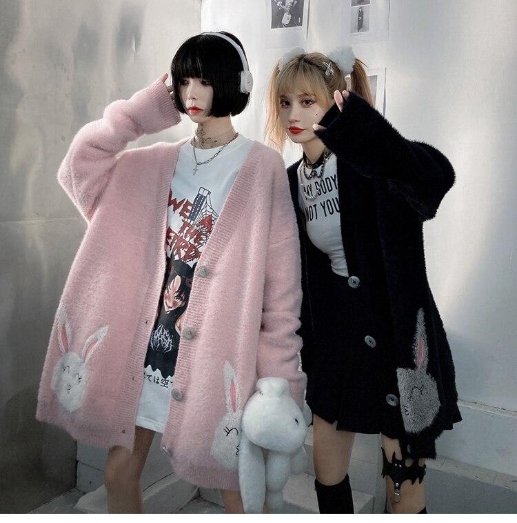 Jing zhe женский свитер зимние теплые милые миленькие в японском