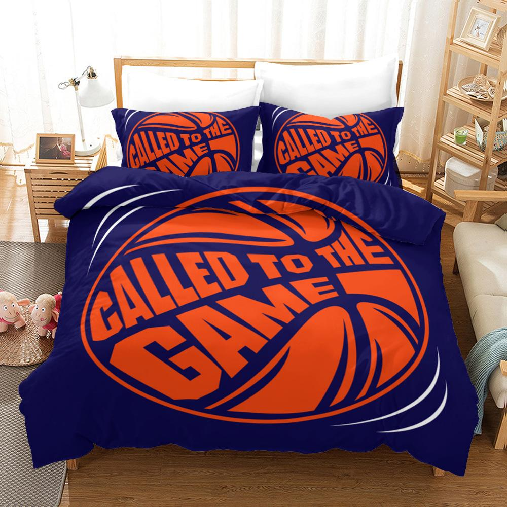 3D Basketball Game Sport Bedding Set Quilt Duvet Cover Pillowcases Bed Linens Set Twin Full Queen King Single Double Size 2-3PCS