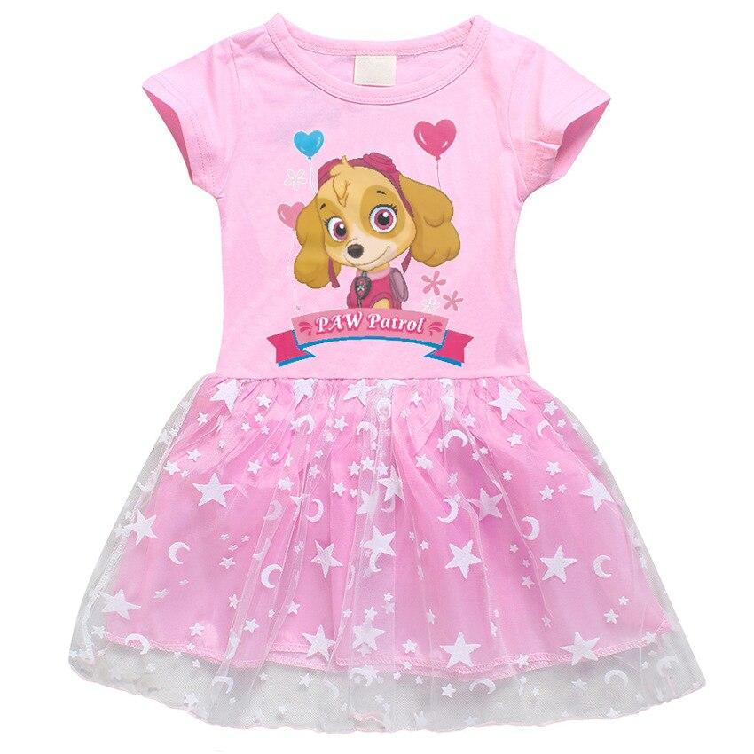 Paw Patrol Original Dolls Figure Toys Kids Girl Dress Girls Lace Paw Patrol Girl Dress Gifts Paw Patrol Original Dolls Vestidos