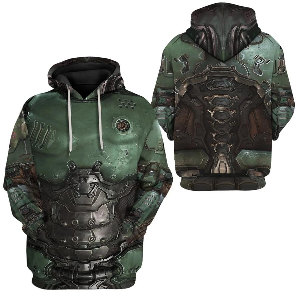 PLstar Cosmos Printed Doom Slayer Doomguy 3d Hoodies/Sweatshirt Winter Autumn Funny Harajuku Long Sleeve Streetwear Pullover