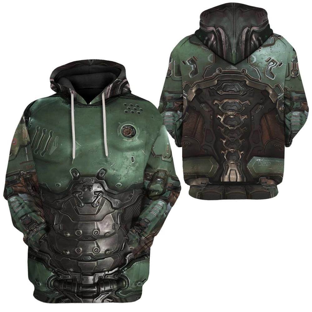 PLstar Cosmos Printed Doom Slayer Doomguy 3d Hoodies/Sweatshirt Winter Autumn Funny Harajuku Long Sleeve Streetwear Pullover
