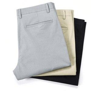 Image 4 - LOMAIYI בתוספת גודל גברים מכנסיים מקרית האביב/קיץ למתוח גברים של קלאסי מכנסיים זכר 2020 עסקי שחור/חאקי מכנסיים איש BM221