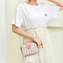 Mini bag 2020 summer korean fashion plaid women's shoulder/crossbody