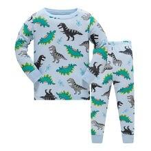 Новинка детский пижамный комплект Повседневная Пижама с длинным