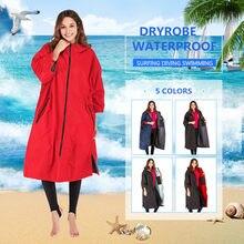 Seco robe venda quente à prova dwaterproof água hoodie poncho terno molhado dryrobe com microfibra terry toweling forro