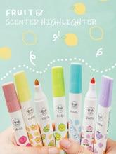 Andstal-ensemble de stylos Jumbo parfumés, couleur Fluo, marqueurs de texte pour l'école, 12 couleurs