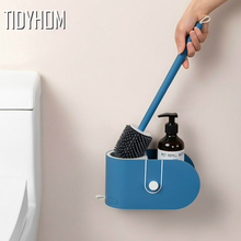 Toilet-Brush Bathroom-Accessories Clean-Tool Silicone-Head Wall-Mounted TPR with Shelf