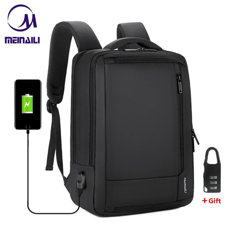 2019 Mens Anti theft 14 15.6 inch Laptop Backpack USB Charging  Waterproof Male Business Travel Back Pack  Boys School  BagpacksBackpacks