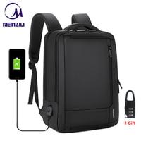 2019 Mens Anti theft 14 15.6 inch Laptop Backpack USB Charging Waterproof Male Business Travel Back Pack Boys School Bagpacks