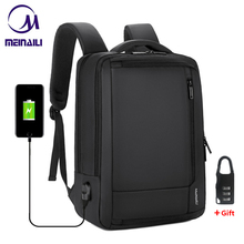 "2019 Mens Anti theft 14 15.6"" inch Laptop Backpack USB Charging Waterproof Male Business Travel Back Pack  Boys School Bagpacks"