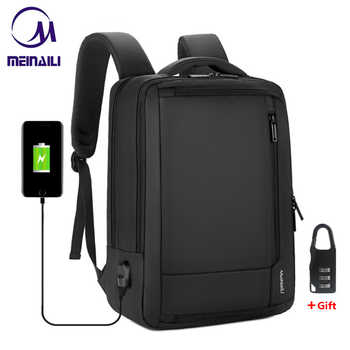 """2019 Mens Anti-theft 14 15.6\"""" inch Laptop Backpack USB Charging Waterproof Male Business Travel Back Pack Boys School Bagpacks - DISCOUNT ITEM  50 OFF Luggage & Bags"""