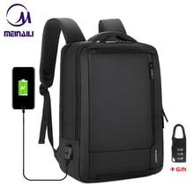 """2019 męskie zabezpieczenie przed kradzieżą 14 15.6 """"calowy plecak na laptopa USB ładowanie wodoodporny męski biznes plecak podróżny chłopcy plecaki szkolne"""