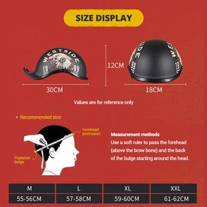 Image 5 - Gxt novo capacete da motocicleta do vintage retro metade motocross capacete aberto rosto casco moto capacete de corrida equitação