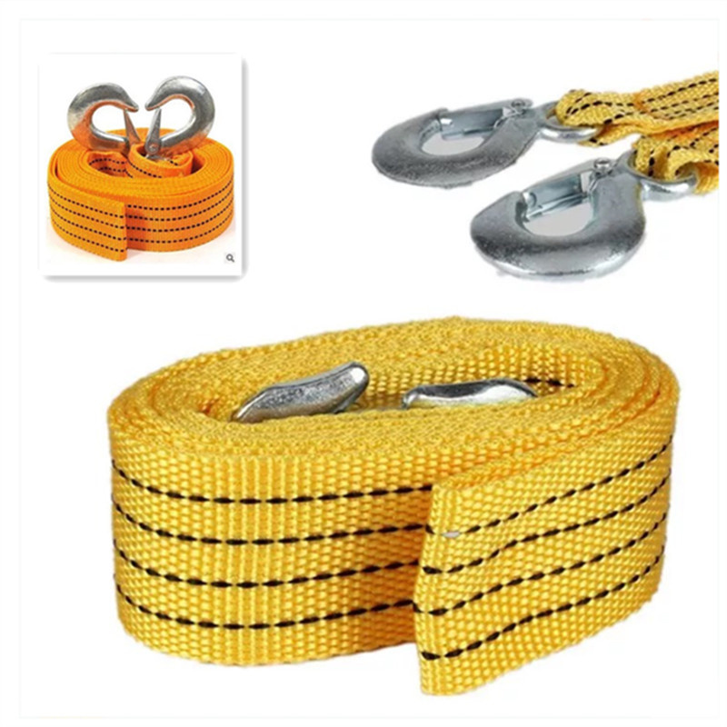 4M Heavy Duty 3 Ton Car Tow Cable Tow Rope Strap Hook Van Road Rescue FOR Porsche 911 918/Cayenne/Macan/Macan S/Panamera/Cayman|Car Stickers| |  - title=