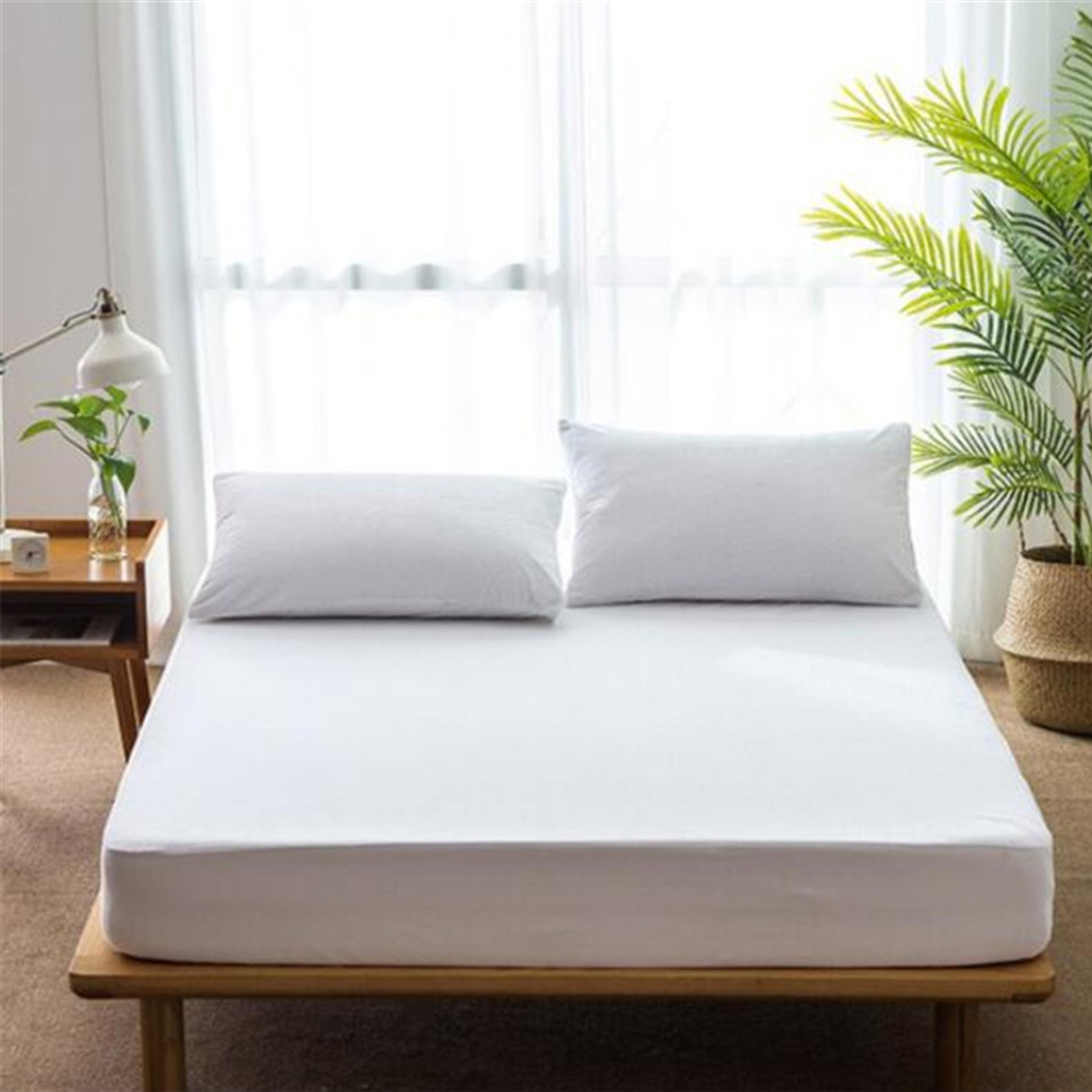 <font><b>90</b></font>/100/120/150/180 x <font><b>190</b></font> + 20CM/180x200 + 20CM Waterproof Mildew Mattress Cover Anti-mite Hypoallergenic Mattress Cover Washable image